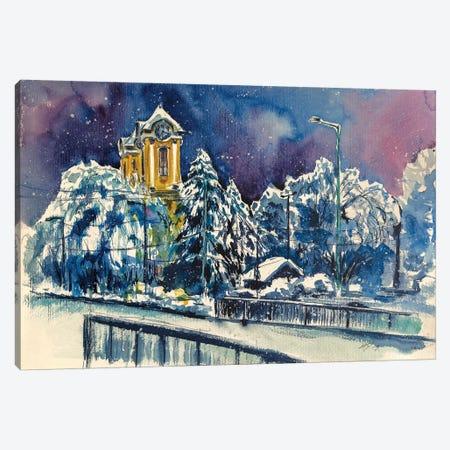 Winter In Hometown II Canvas Print #AKV95} by Anna Brigitta Kovacs Canvas Art