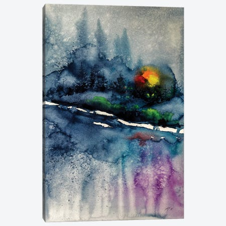 Wintertime Landscape Canvas Print #AKV97} by Anna Brigitta Kovacs Canvas Artwork