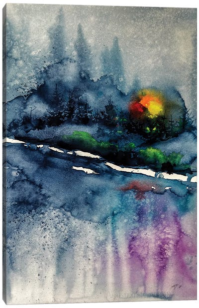 Wintertime Landscape Canvas Art Print