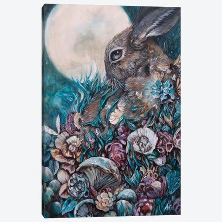Down The Rabbit Hole Canvas Print #AKW3} by AK Westerman Art Print