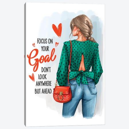 Focus On Your Goal (Blonde Girl) Canvas Print #AKY10} by Anastasia Kosyanova Canvas Art