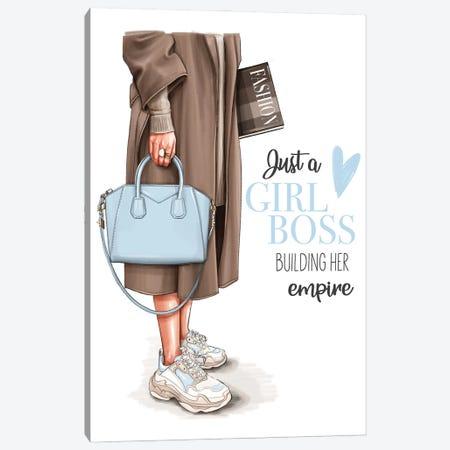 Fashion Girl Boss Canvas Print #AKY12} by Anastasia Kosyanova Canvas Artwork