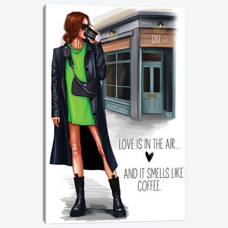 Grunge Girl (Readhead) Canvas Print #AKY21} by Anastasia Kosyanova Canvas Art Print