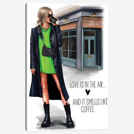 Grunge Girl (Blonde) Canvas Print #AKY22} by Anastasia Kosyanova Canvas Art Print