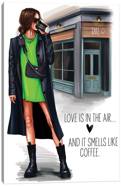 Grunge Girl (Brunette) Canvas Art Print