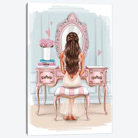 Beautiful Morning (Brunette Girl) Canvas Print #AKY25} by Anastasia Kosyanova Canvas Artwork