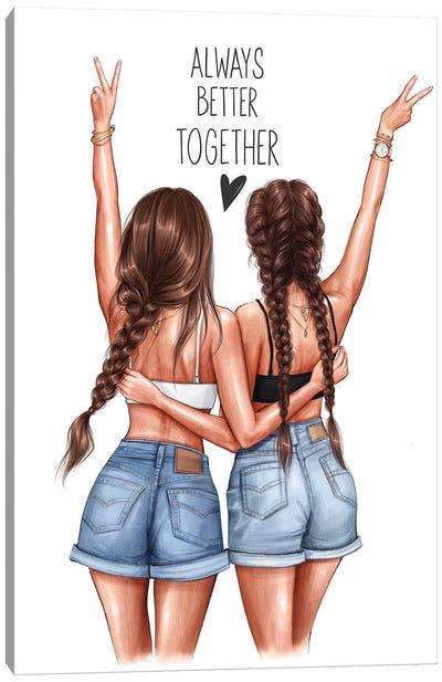 Better Together (Brunettes) Canvas Art Print