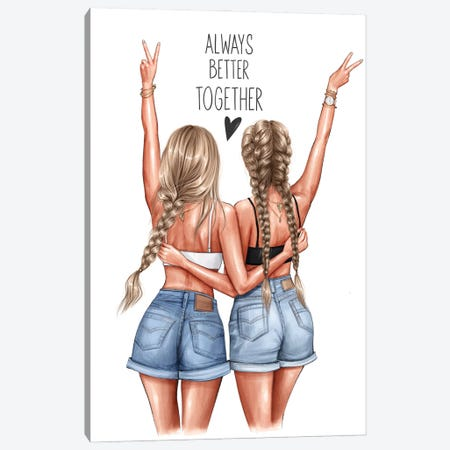 Better Together (Blondes) Canvas Print #AKY31} by Anastasia Kosyanova Canvas Art