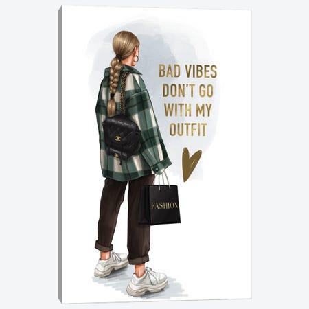 Street Style Fashion Girl (Blonde) Canvas Print #AKY36} by Anastasia Kosyanova Canvas Art Print