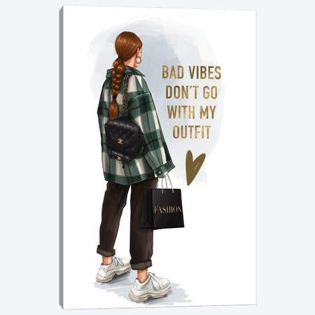 Street Style Fashion Girl (Redhead) Canvas Print #AKY37} by Anastasia Kosyanova Canvas Print