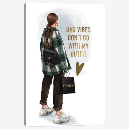 Street Style Fashion Girl (Brunette) Canvas Print #AKY38} by Anastasia Kosyanova Canvas Art