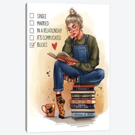 Girl With A Book (Blonde) Canvas Print #AKY40} by Anastasia Kosyanova Art Print