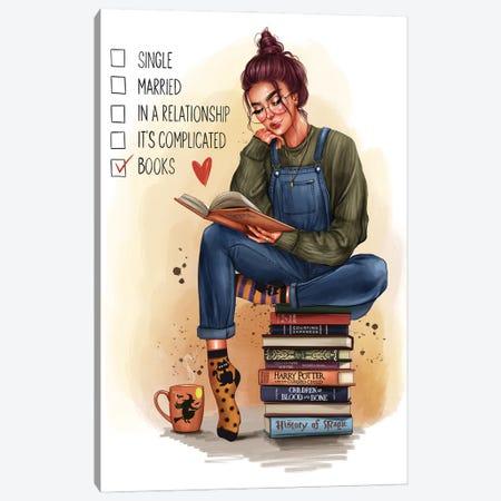 Girl With A Book (Redhead) Canvas Print #AKY41} by Anastasia Kosyanova Canvas Print