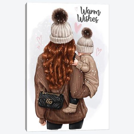 Mom With Baby (Redhead) Canvas Print #AKY50} by Anastasia Kosyanova Canvas Artwork