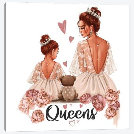 Mom And Daughter Queens (Redhead) Canvas Print #AKY61} by Anastasia Kosyanova Art Print
