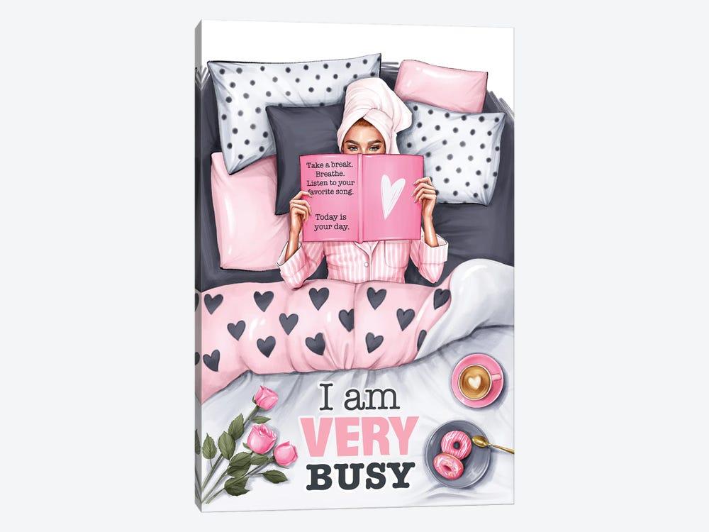 I Am Very Busy (Redhead Girl) by Anastasia Kosyanova 1-piece Art Print