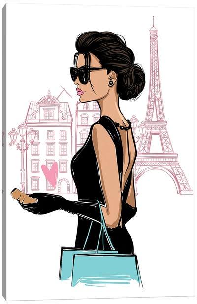 Parisian Girl I Canvas Art Print