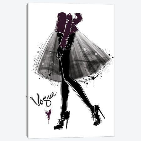 Total Black Chic Canvas Print #AKY74} by Anastasia Kosyanova Canvas Print