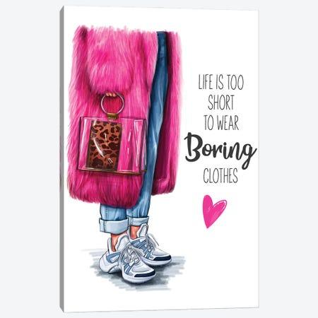Don'T Be Boring Canvas Print #AKY8} by Anastasia Kosyanova Canvas Art Print