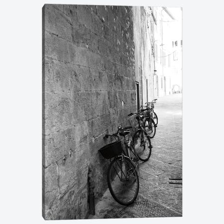 Bicycles in the Alley Canvas Print #ALD114} by Aledanda Canvas Print