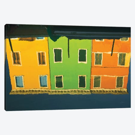 Reflections Of Burano IX Canvas Print #ALD15} by Aledanda Canvas Print