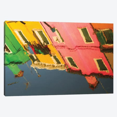 Reflections Of Burano X Canvas Print #ALD16} by Aledanda Art Print