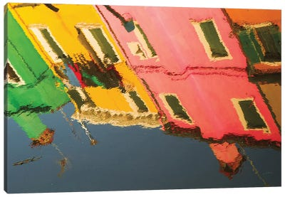 Reflections Of Burano X Canvas Art Print