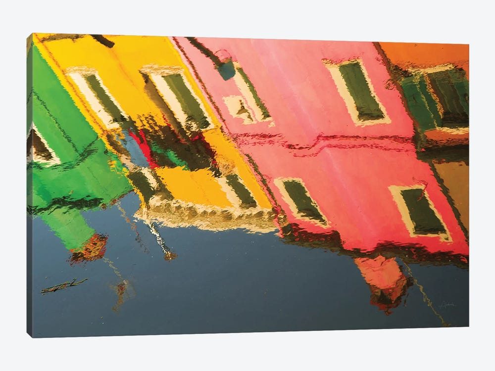 Reflections Of Burano X by Aledanda 1-piece Canvas Print