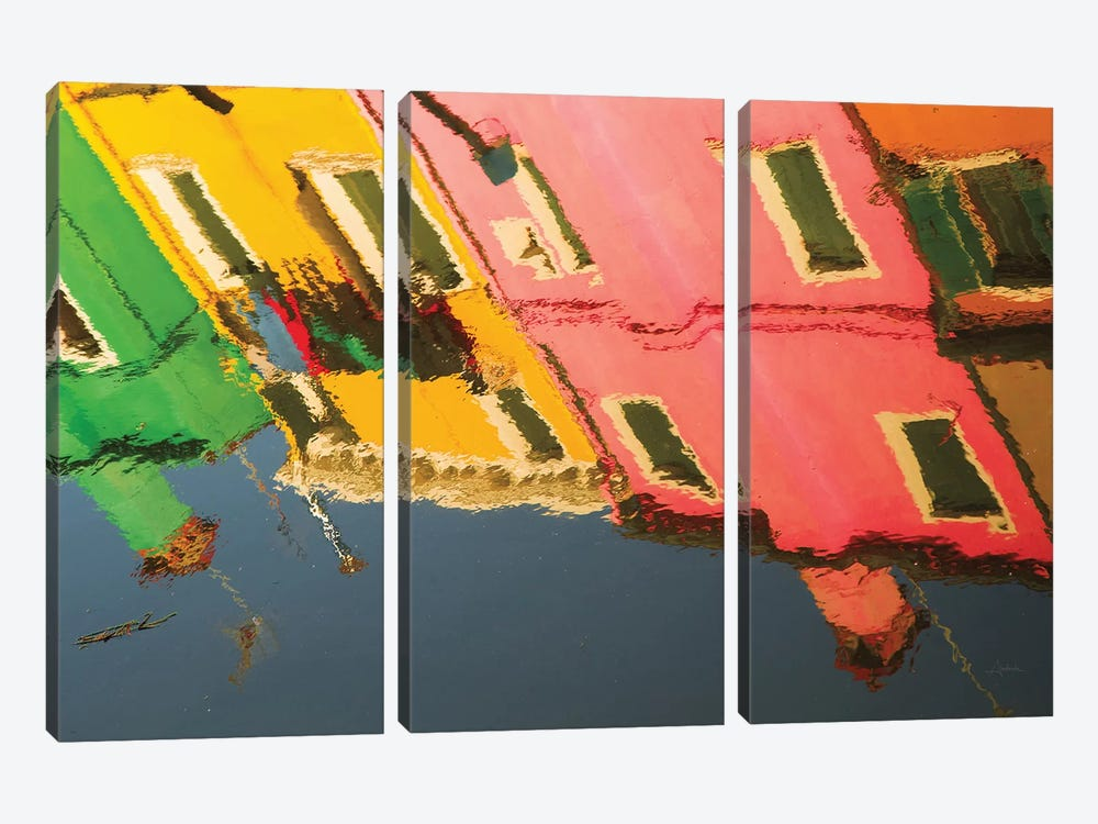Reflections Of Burano X by Aledanda 3-piece Art Print