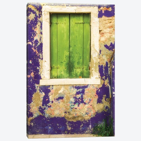 Windows Of Burano I Canvas Print #ALD18} by Aledanda Canvas Art