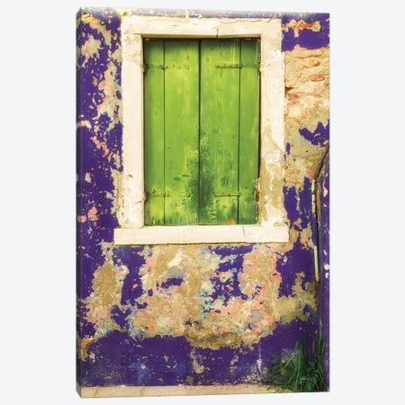 Windows Of Burano I Canvas Print #ALD18} by Aledanda Canvas Art
