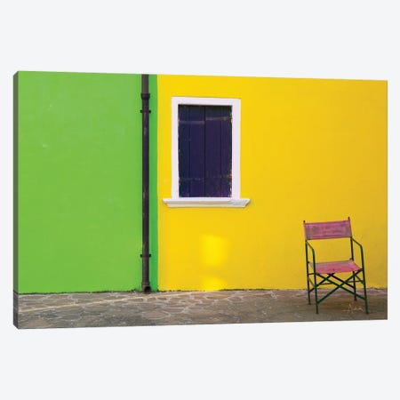 Windows Of Burano II Canvas Print #ALD19} by Aledanda Canvas Artwork