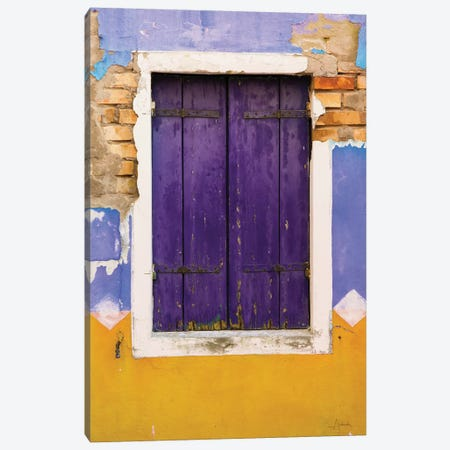 Windows Of Burano IV Canvas Print #ALD21} by Aledanda Canvas Print