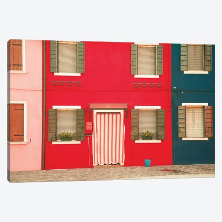 Windows Of Burano VI Canvas Print #ALD23} by Aledanda Canvas Art Print