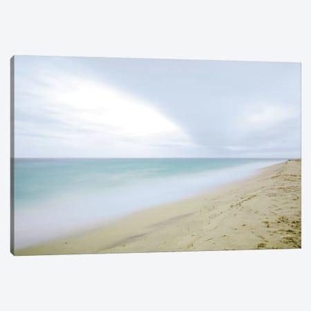 Early Morning Beach Canvas Print #ALD51} by Aledanda Canvas Wall Art