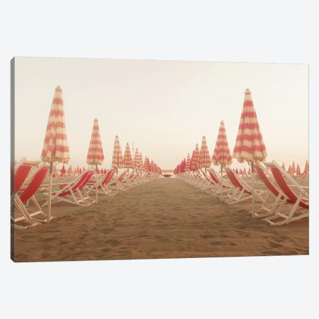 At the Beach I Canvas Print #ALD71} by Aledanda Canvas Art