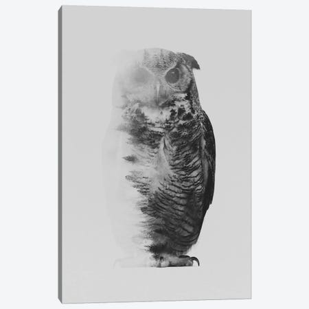 The Owl I in B&W Canvas Print #ALE131} by Andreas Lie Canvas Print