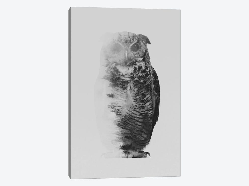 The Owl I in B&W by Andreas Lie 1-piece Art Print