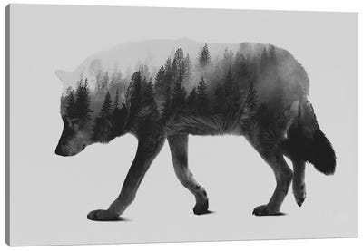 The Wolf I in B&W Canvas Art Print
