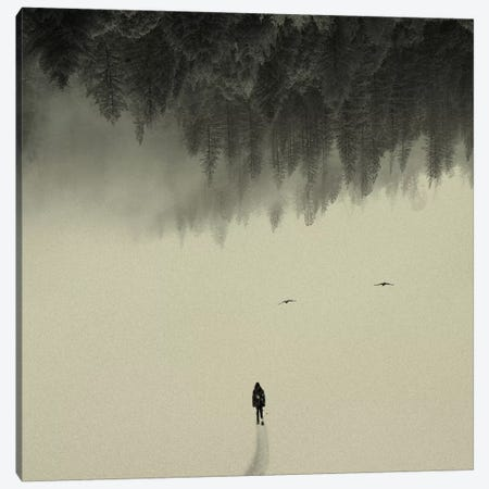 Silent Walk Canvas Print #ALE14} by Andreas Lie Canvas Art