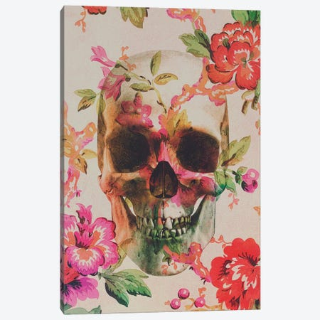 Skull Canvas Print #ALE15} by Andreas Lie Canvas Artwork