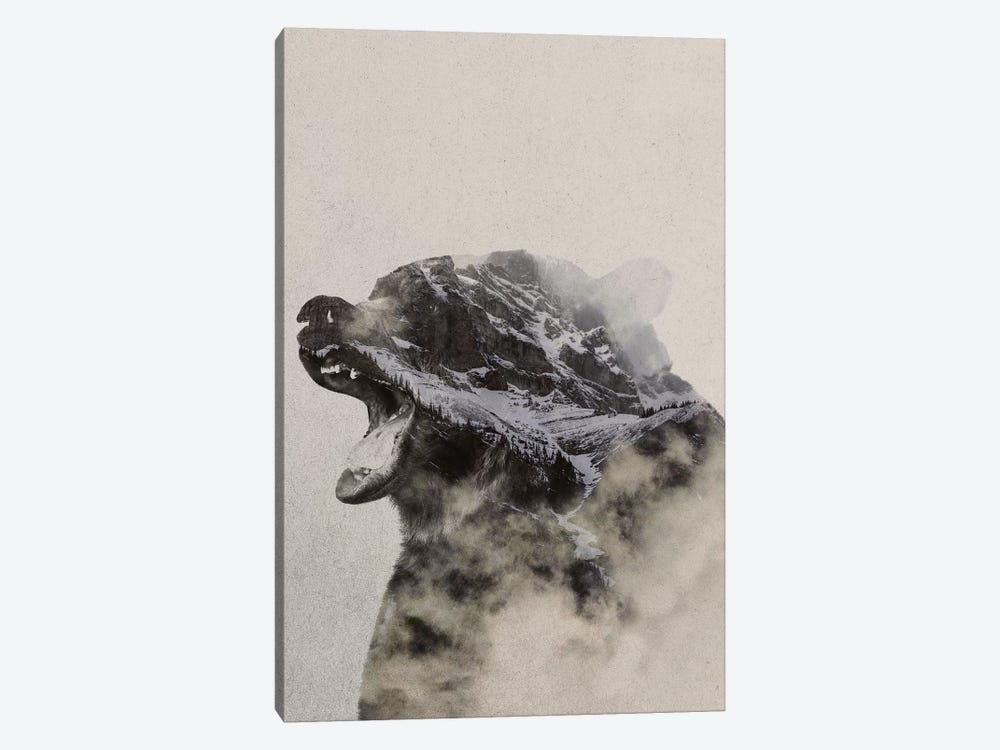Bear In The Fog by Andreas Lie 1-piece Art Print