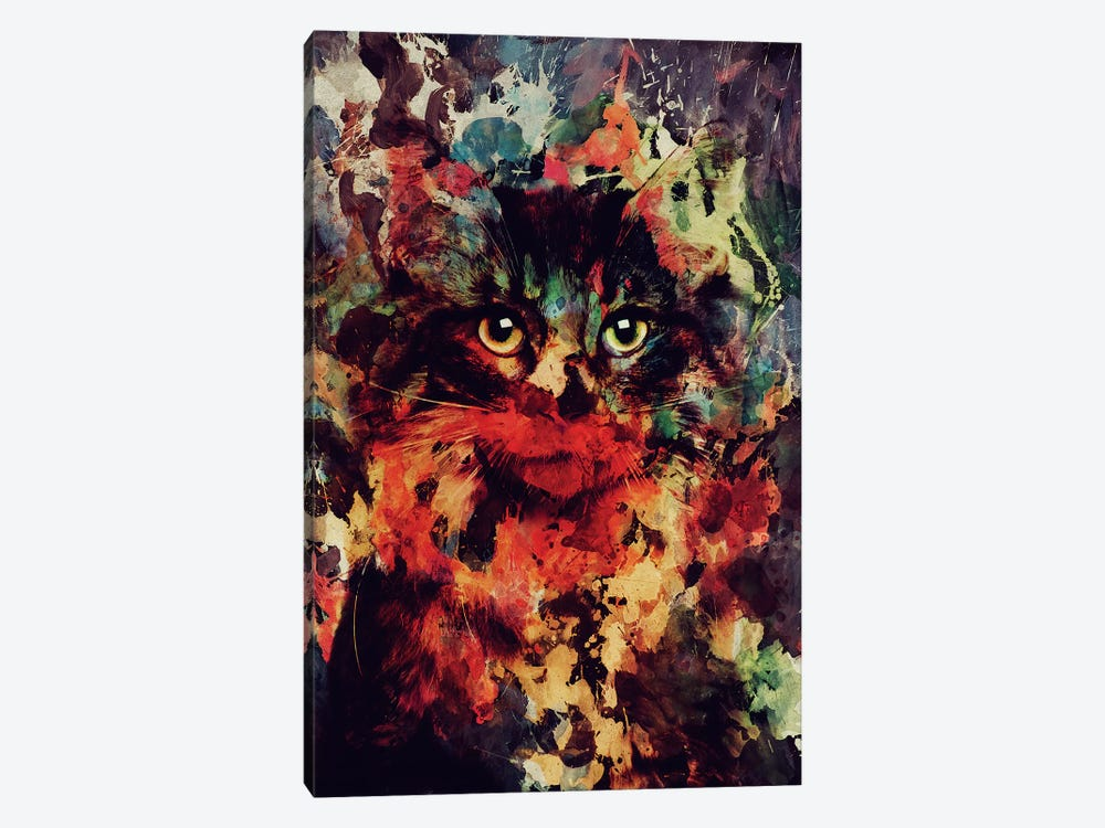 Watercolor Cat by Andreas Lie 1-piece Canvas Art