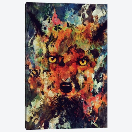 Watercolor Fox Canvas Print #ALE171} by Andreas Lie Art Print