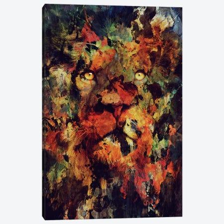 Watercolor Lion Canvas Print #ALE172} by Andreas Lie Canvas Print