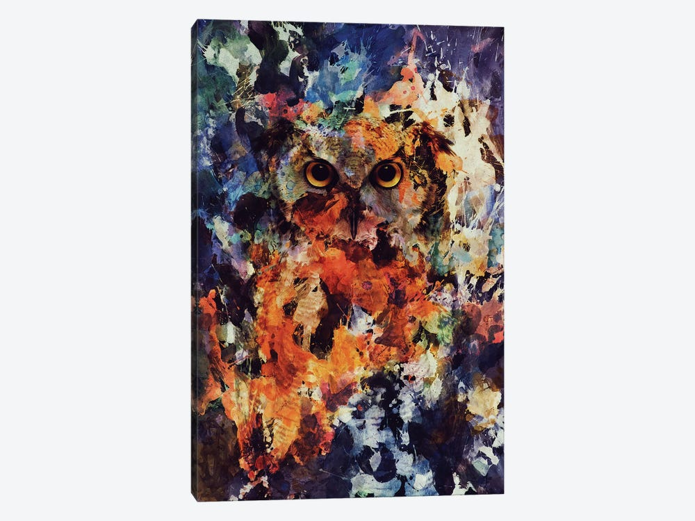 Watercolor Owl by Andreas Lie 1-piece Canvas Print