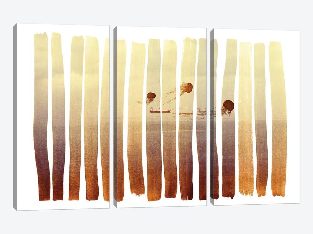 Guided by Andreas Lie 3-piece Canvas Art