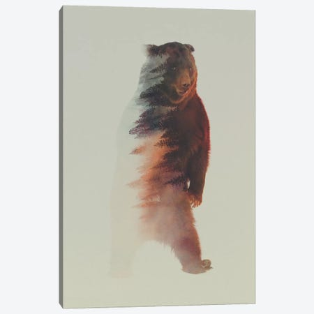 Standing Bear Canvas Print #ALE18} by Andreas Lie Canvas Print