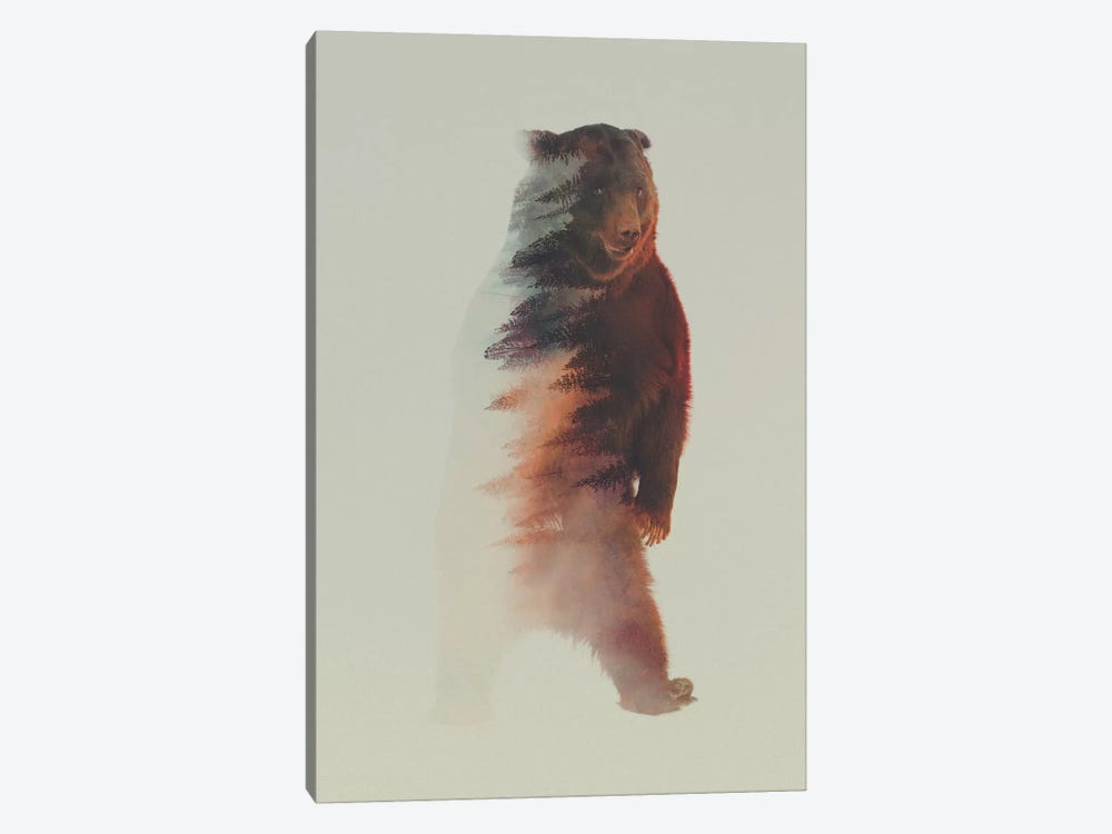 Standing Bear by Andreas Lie 1-piece Canvas Art