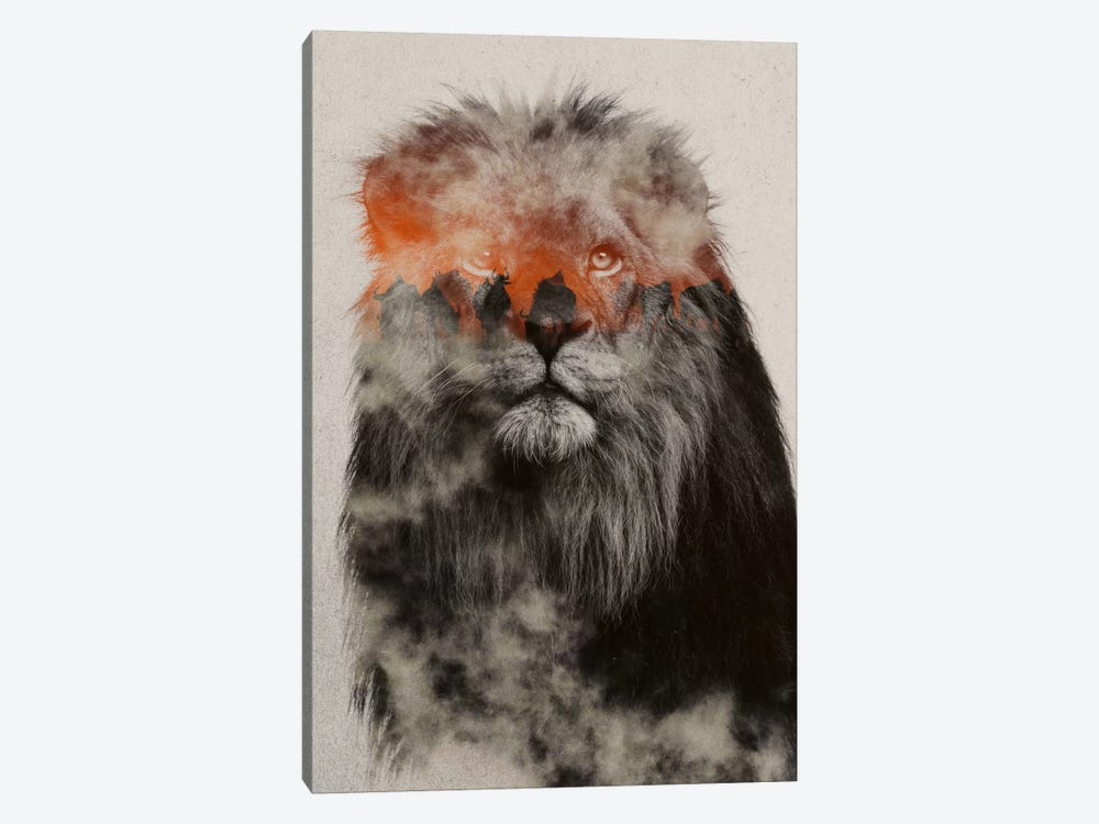 Lion by Andreas Lie 1-piece Canvas Artwork